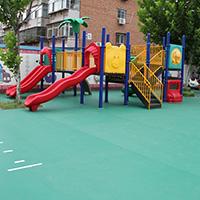 户外场地胶篮球场羽毛球场幼儿园地胶室外专用pvc地板地胶