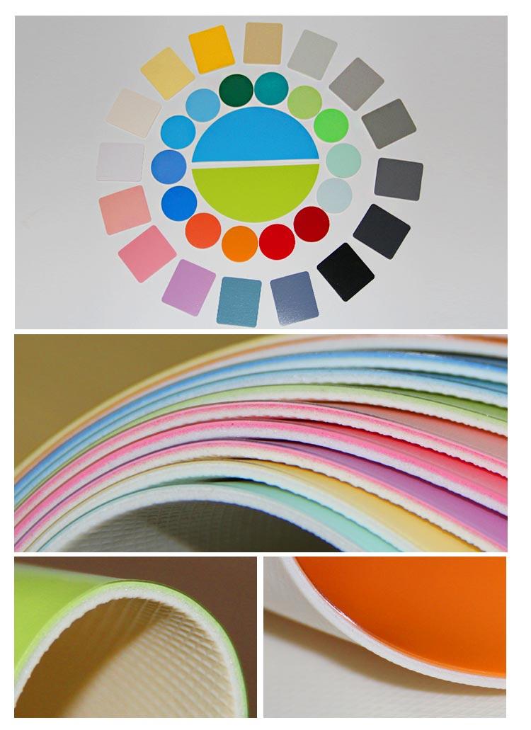 塑胶地板纯色系