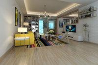 竹节木石塑地板-客厅