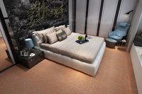 地毯纹石塑地板-卧室